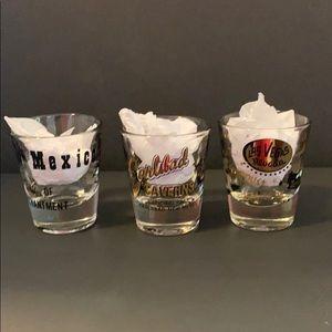 Set of 3 Souvenir Shot Glasses